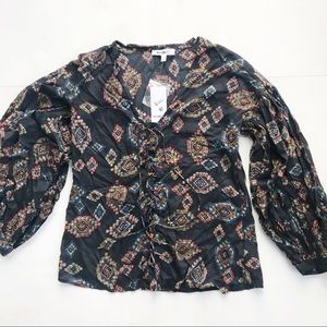 NWT William Rast James Night Sky Top Shirt XS Boho